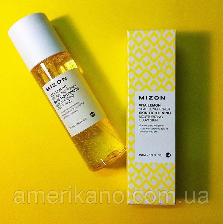 Витаминный тонер для сияния кожи Mizon Vita lemon sparkling toner