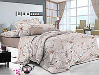Сатиновое постельное бельё (12386) двуспальное евро 200*220 хлопок, фото 1