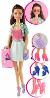 Кукла Ася шатенка с 4 парами обуви и аксессуарами, Я люблю обувь, Ася (35083)