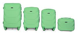 Набор чемоданов 4 штуки в 1 Fly К147 на 4 колесах Мятный