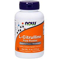 "L-цитруллин NOW Foods ""L-Citrulline Pure Powder"" чистый порошок (113 г)"