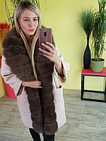 Пальто женское. Пальто с мехом песца