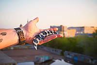 Нож складной (керамбит) цельнометаллический, эргономичная рукоять, малогабаритный, фото 1