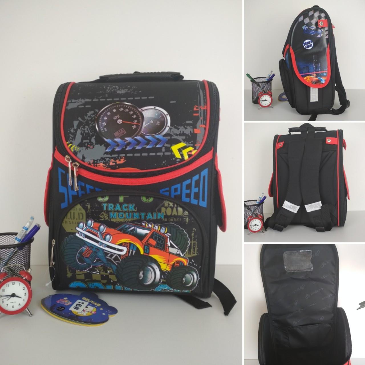 Ортопедический каркасный рюкзак Track Mountain для мальчика 34*25*15 см