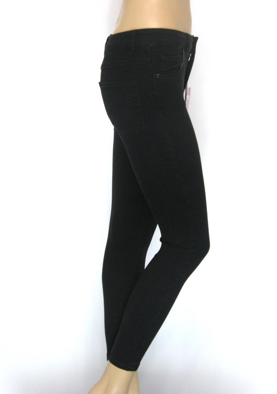 Жіночі чорні джинси з високою талією (американки)