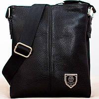 Кожаная мужская сумка Philipp Plein 22х19см Мужская сумка из натуральной кожи
