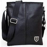 Кожаная мужская сумка philipp plein 27х23 см. Мужская сумка из натуральной кожи, фото 1