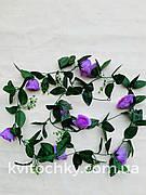 Искусственная лиана с розами сиреневая(2 м)