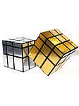 Зеркальный кубик Рубика 3х3 QiYi Mirror Gold, фото 5