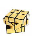Зеркальный кубик Рубика 3х3 QiYi Mirror Gold, фото 6
