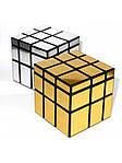 Зеркальный кубик Рубика 3х3 QiYi Mirror Gold, фото 8