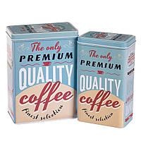 "Набор металлических банок ""Premium Coffee"" (2 шт.)"