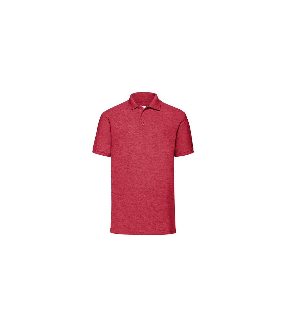Мужская футболка поло красная меланж 402-VH