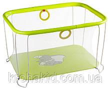 Детский игровой манежKinderBox - Салатовый со слоником (kms 4336)