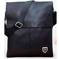 Кожаная мужская сумка Philipp Plein  27х33 см. Мужская сумка из натуральной кожи