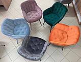 Кресло VIENA велюр голубой Nicolas (бесплатная доставка), фото 4