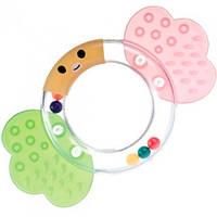 """Брязкальце """"Прозоре коло  Canpol babies, бабочка, салатовый, розовый (2/598-2)"""