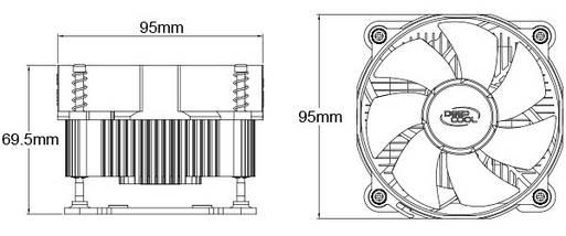 Кулер для процессора Deepcool CK-11508 LGA 1150/1151/1155/1156, фото 3