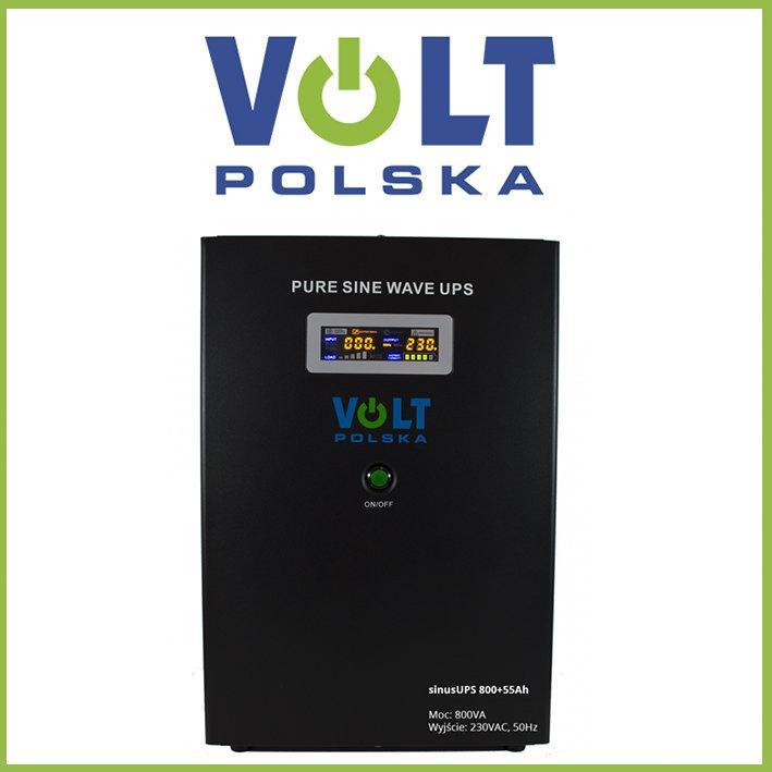 Преобразователь напряжения с АКБ VOLT POLSKA SinusUPS-800+55Ah