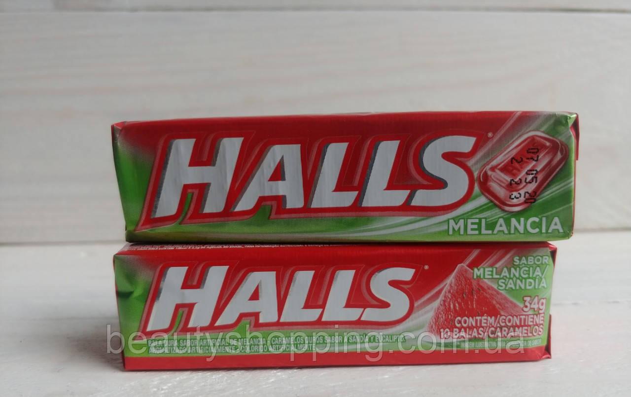 Halls Melancia холс ментоловые леденцы со вкусом арбуза 34g Бразилия