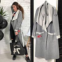 """Пальто женское легкое из шерсти с поясом """"Джени"""", фото 1"""