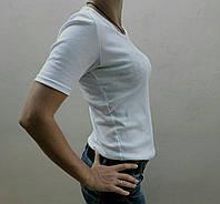 Футболка женская с коротким рукавом белая, фото 1