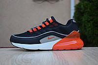 Мужские кроссовки спортивные в стиле Nike Air Max 95+ Max 270 Hybrid чёрные с оранжевым, фото 1