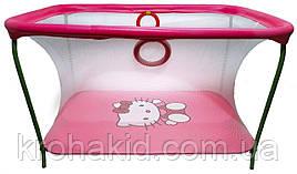Детский игровой манежKinderBox - Малиновый с мелкой сеткой Hello Kitty  (km71)