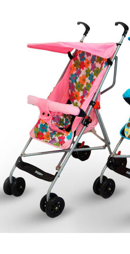 Дитяча прогулянкова коляска трость Sigma S-A-1 Рожева