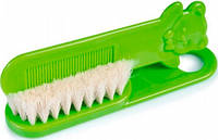 Щетка для волос мягкая (салатовая), Canpol babies, салат. (2/424-2)