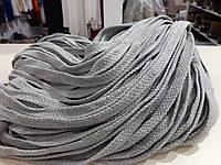 Шнур для одягу без наповнювача х/б 16мм кол сірий світлий (уп 100м) Ф