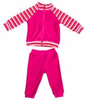 Комплект домашней одежды для девочки, Danaya, розовый в полоску (86 р.) (075G_86-52)
