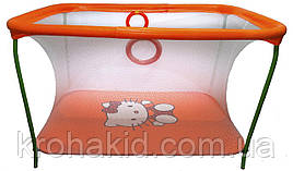 Детский игровой манежKinderBox - Оранжевый с мелкой сеткой Hello Kitty (km 200)