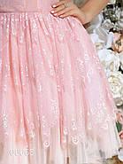 Гипюровое платье для вечеринки с пышной юбкой, 00065 (Розовый), Размер 44 (M), фото 4