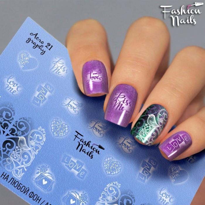 Слайдер дизайн для ногтей наклейки надписи - Черно-белые слайдер дизайны Fashion Nails