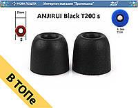 ANJIRUI T200 s Black амбушюра с пеной памяти для вакуумных наушников черный ОПТ