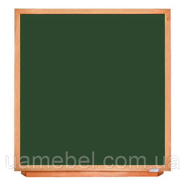 Школьная доска в деревянном профиле КЛАССИК, 100х120 см
