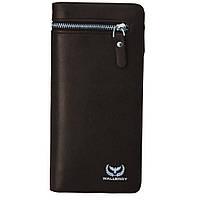 Мужское портмоне, Кошелек Wallerry S618 Коричневый D1021