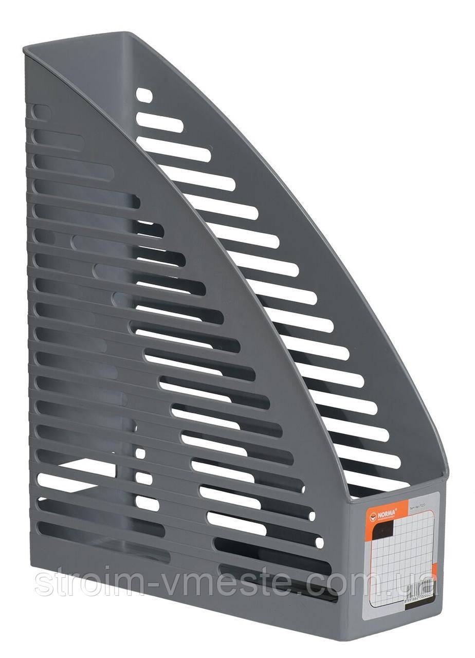 Лоток для бумаги вертикальный ударопрочный Norma 7020 серый