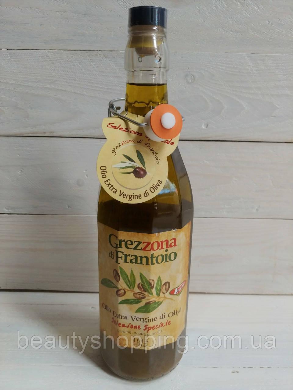 Оливковое нефильтрованное масло Grezzona Di Frantoio Extra Vergine di Oliva 1 литр Италия