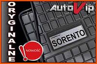 Резиновые коврики KIA SORENTO 2009-  с логотипом, фото 1