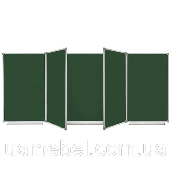 Школьная доска магнитная меловая, 7 пов., 400х120 см, фото 1