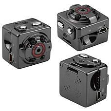 Мини камера SQ8 с ночной подсветкой и датчиком движения  + ПОДАРОК: Настенный Фонарик с регулятором BL-8772A, фото 3