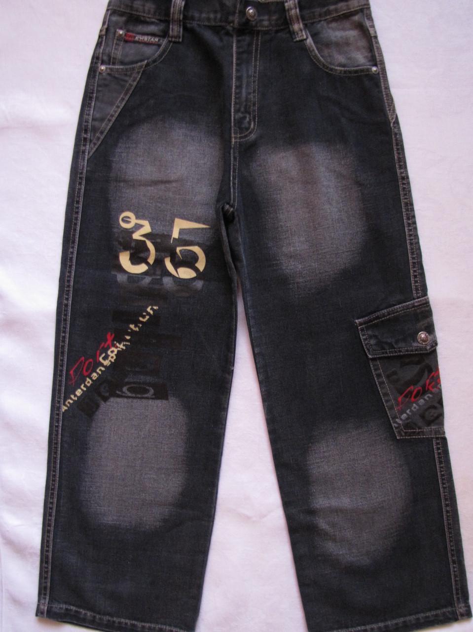 """Черные джинсовые брюки для мальчиков 100,110,120,130,140 роста """"35"""""""