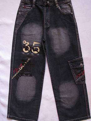 """Черные джинсовые брюки для мальчиков 100,110,120,130,140 роста """"35"""", фото 2"""