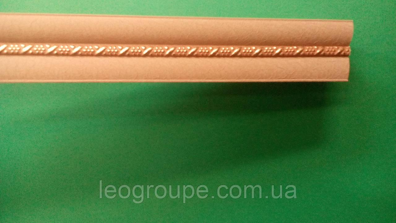 Карниз алюминиевый двойной с одной косой Лате мини -3,5м