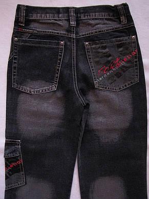 """Черные джинсовые брюки для мальчиков 100,110,120,130,140 роста """"35"""", фото 3"""
