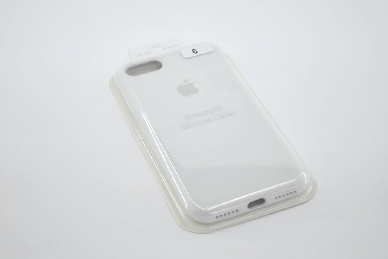 Чехол iPhone 7+ /8+ Silicone Case original white FULL №6