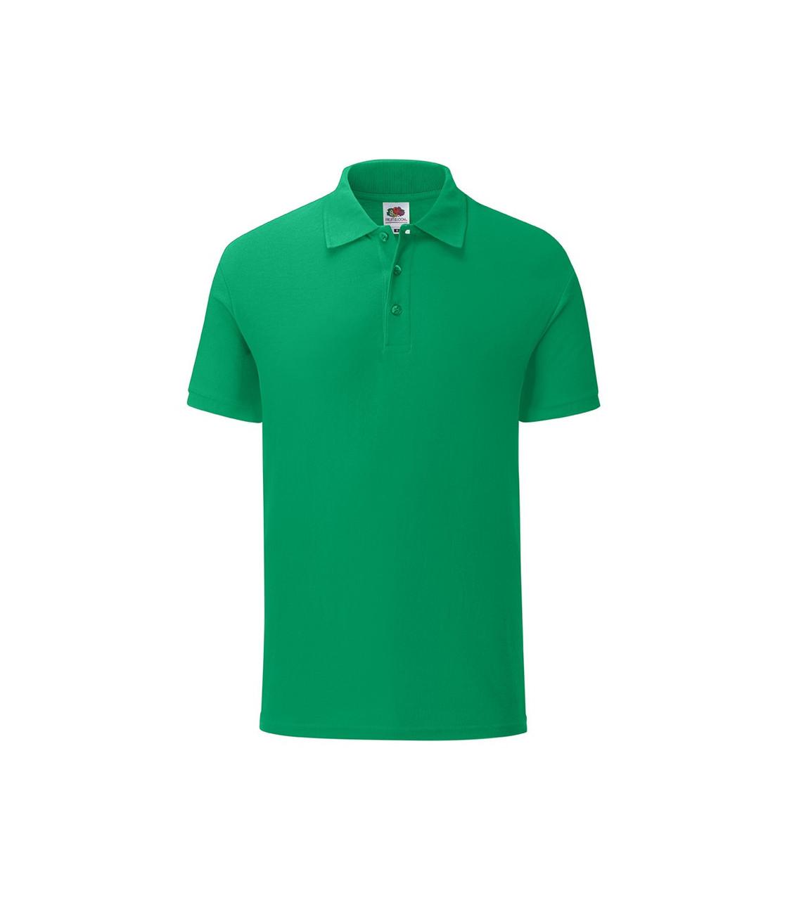 Мужская футболка поло хлопок зеленая 044-47