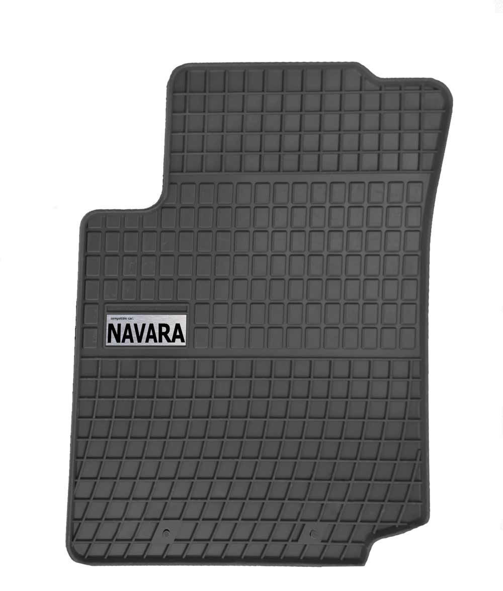 Резиновые коврики NISSAN NAVRA 2016-  с логотипом